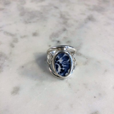 Blue Sunflower Chaney Ring
