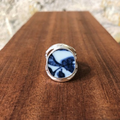 BLUE LEAVES CHANEY RING