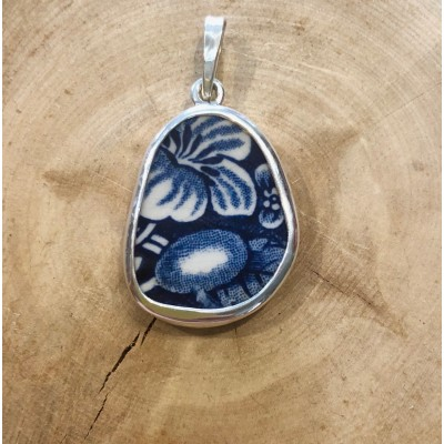 Blue Hibiscus Chaney Pendant