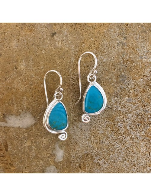 Turquoise Spiral Dangle