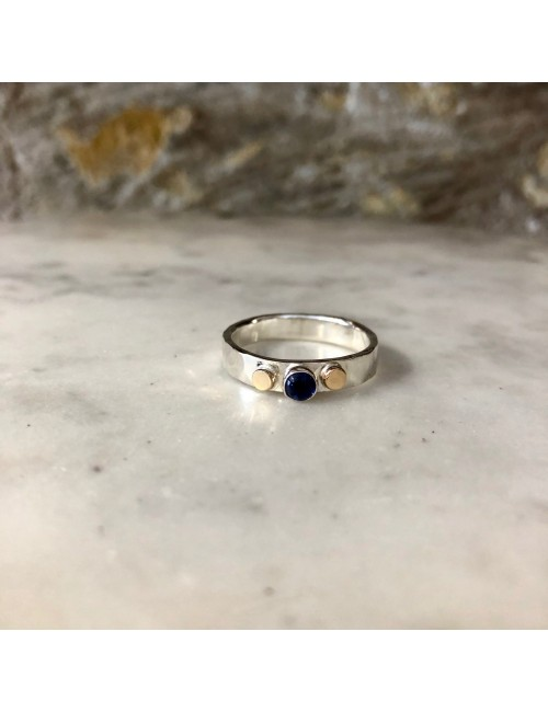 Iolite Dot Ring