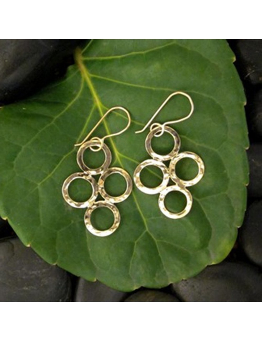 Four Circle Earrings