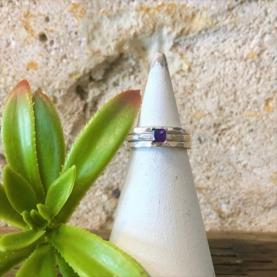 Traditional Amethyst Stack Set