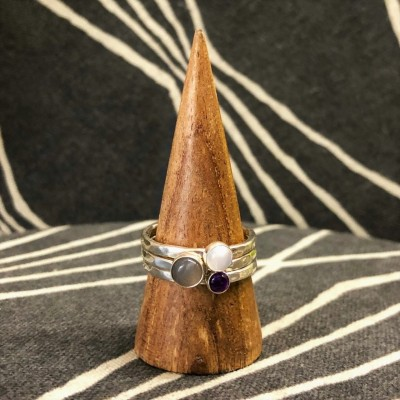 Gray Moonstone Stack Set