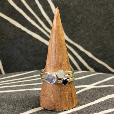 Rainbow Moonstone Stack Set