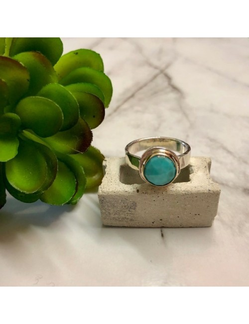ROSE CUT TURQUOISE RING