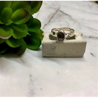 Tiny Labadorite silver ring