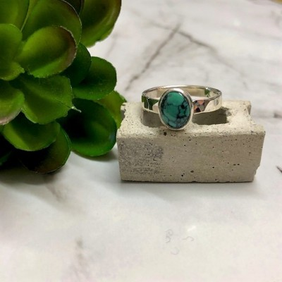 little oval turquoise ring