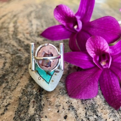 ORBIT MEXICAN OPAL RING