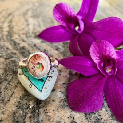 DESERT RISE MEXICAN OPAL RING