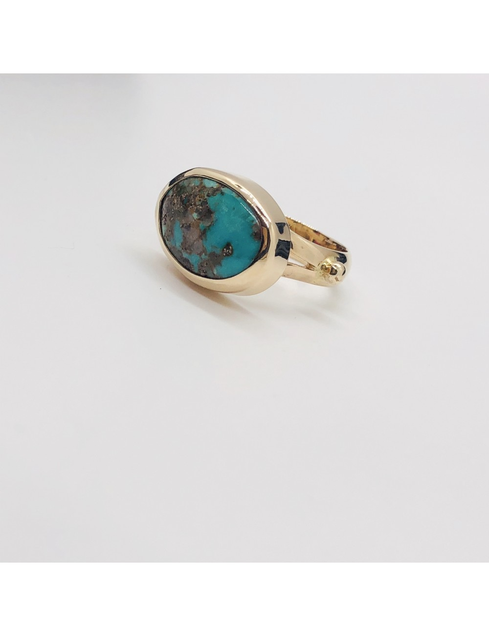 Turquoise Mania oval turquoise ring