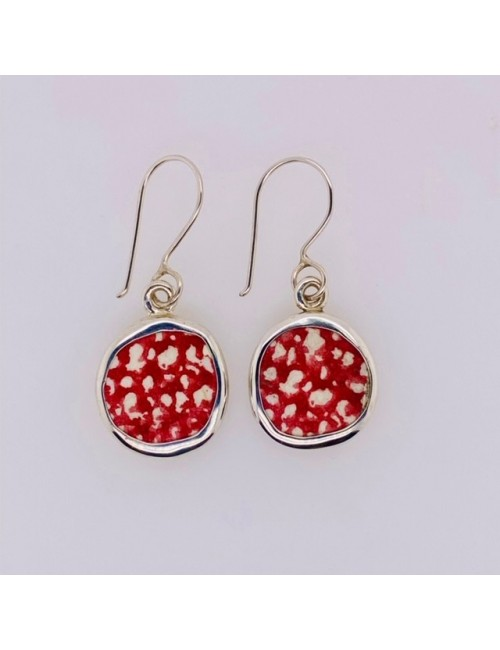 RED LACE CHANEY EARRINGS