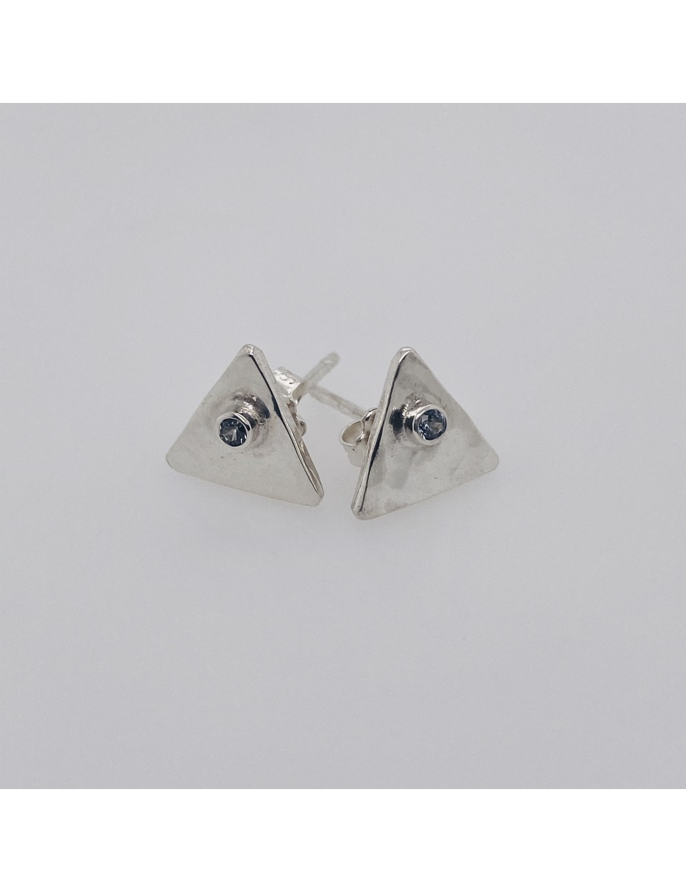 Triangle Stud with Stone