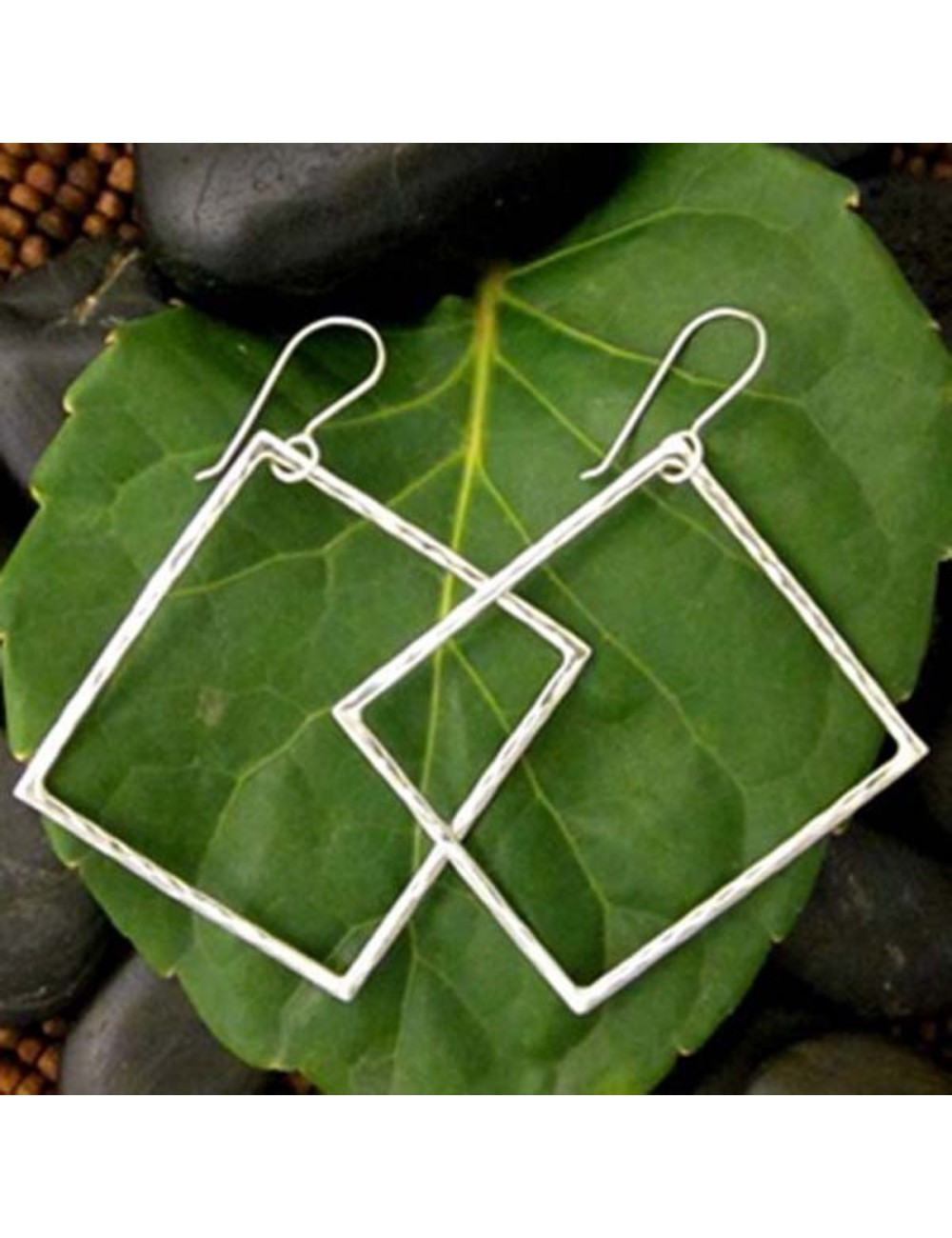 Outside of the Box Square Earrings