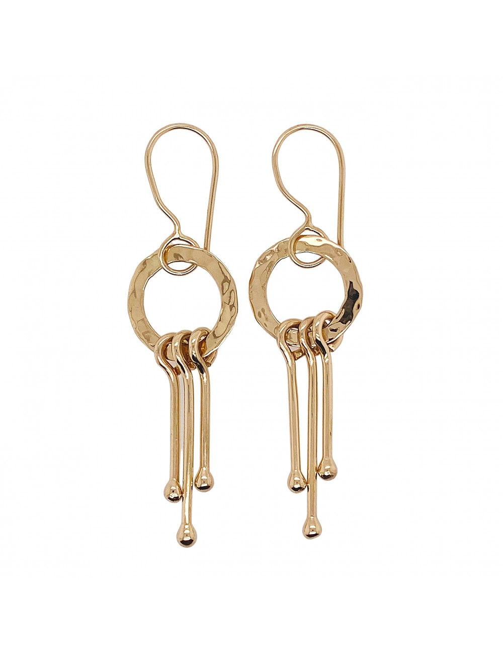 Ball and Link Earrings
