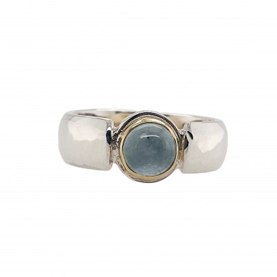 ROUND AQUAMARINE RING